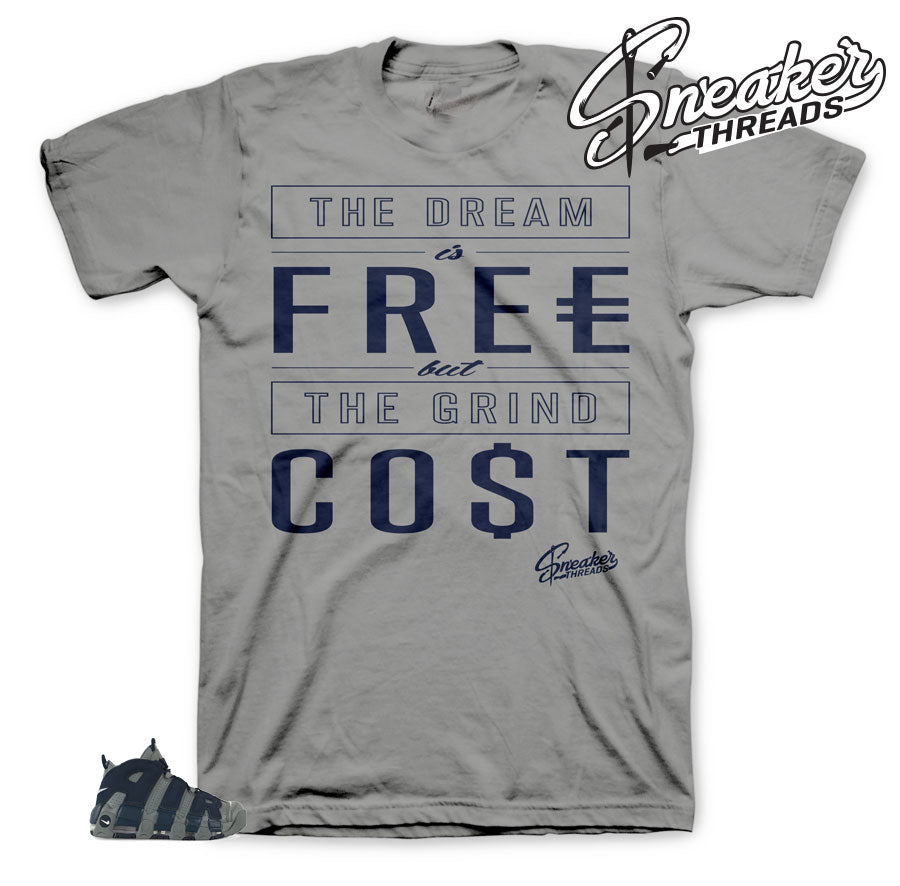 Uptempo georgetown sneaker tees match hoyas shoes | Uptempo Tees