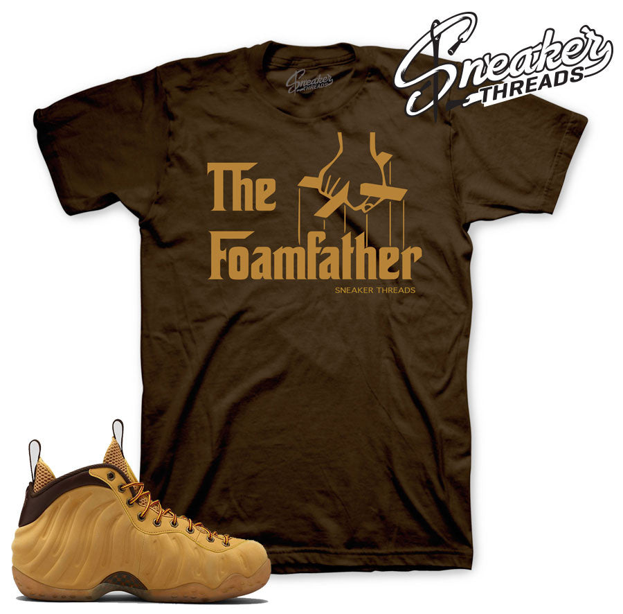 Foamposite wheat shirts match foam wheat sneaker tees.