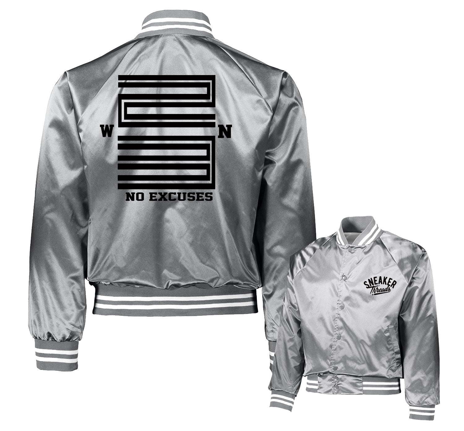 Jordan 11 Metallic Silver WIN Satin Jacket