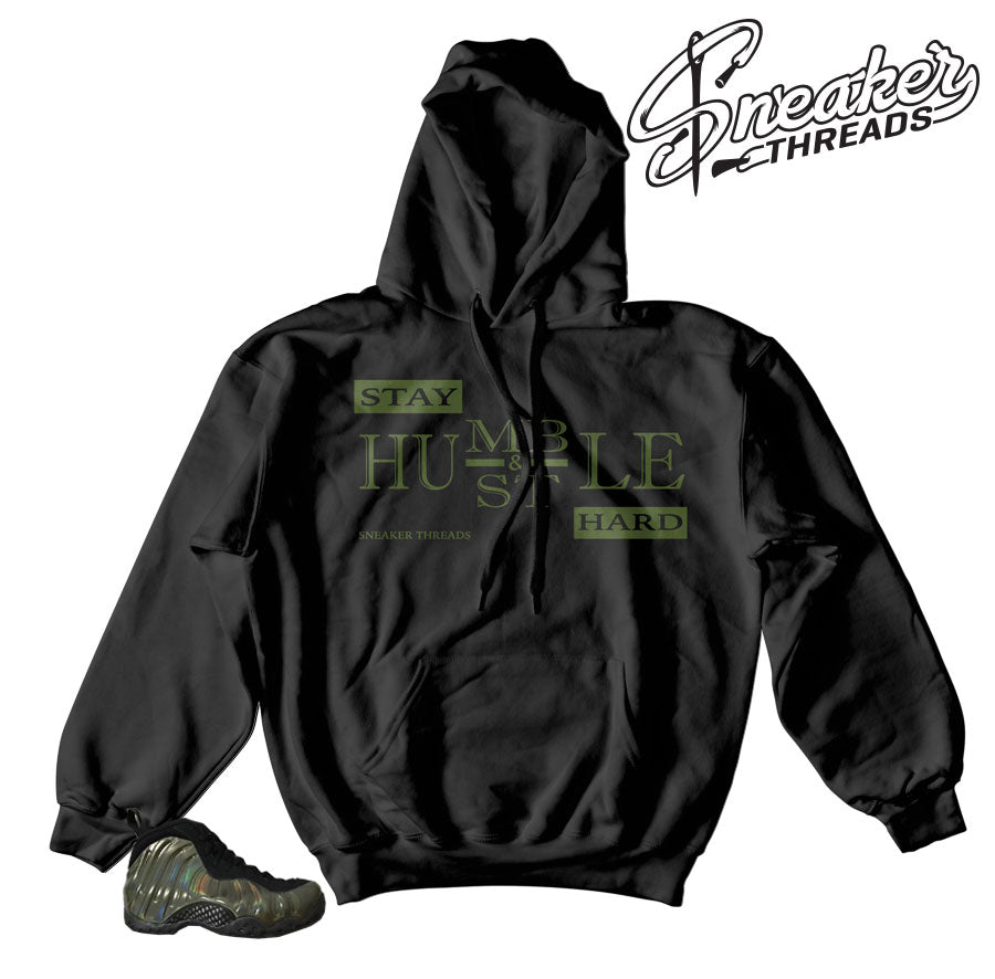 Hoodies match foamposite legion green foamposite sneakers.