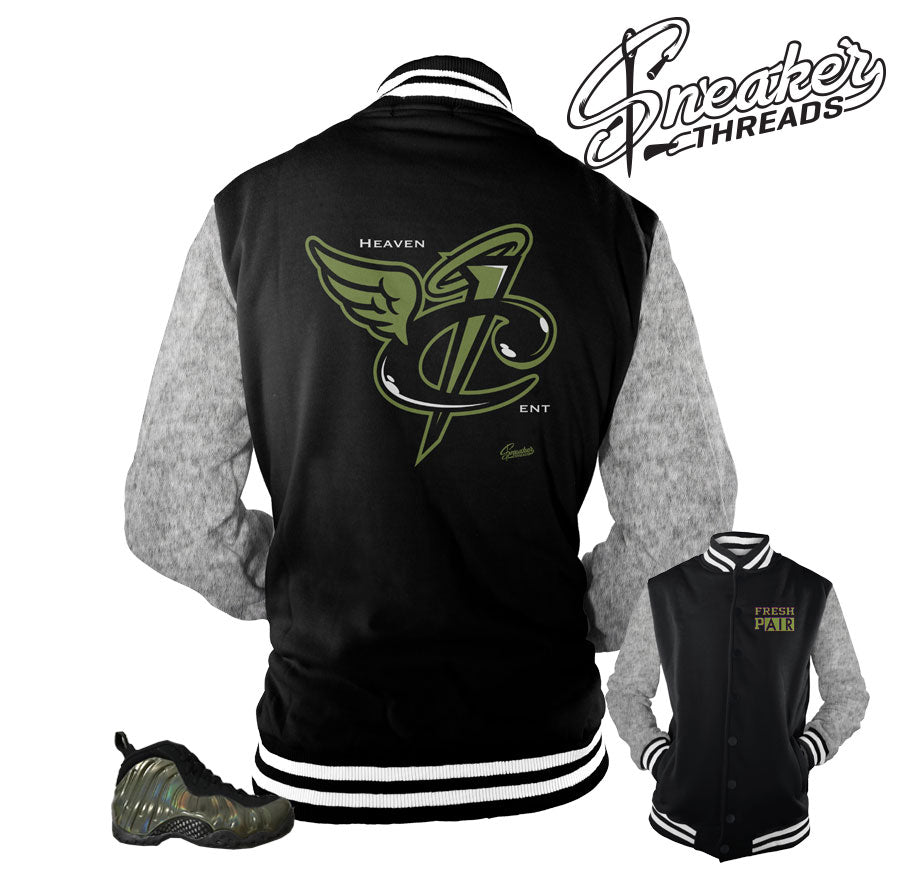 quality design a7161 18b74 Home Foamposite Legion Green Heaven Cent Jacket. Share