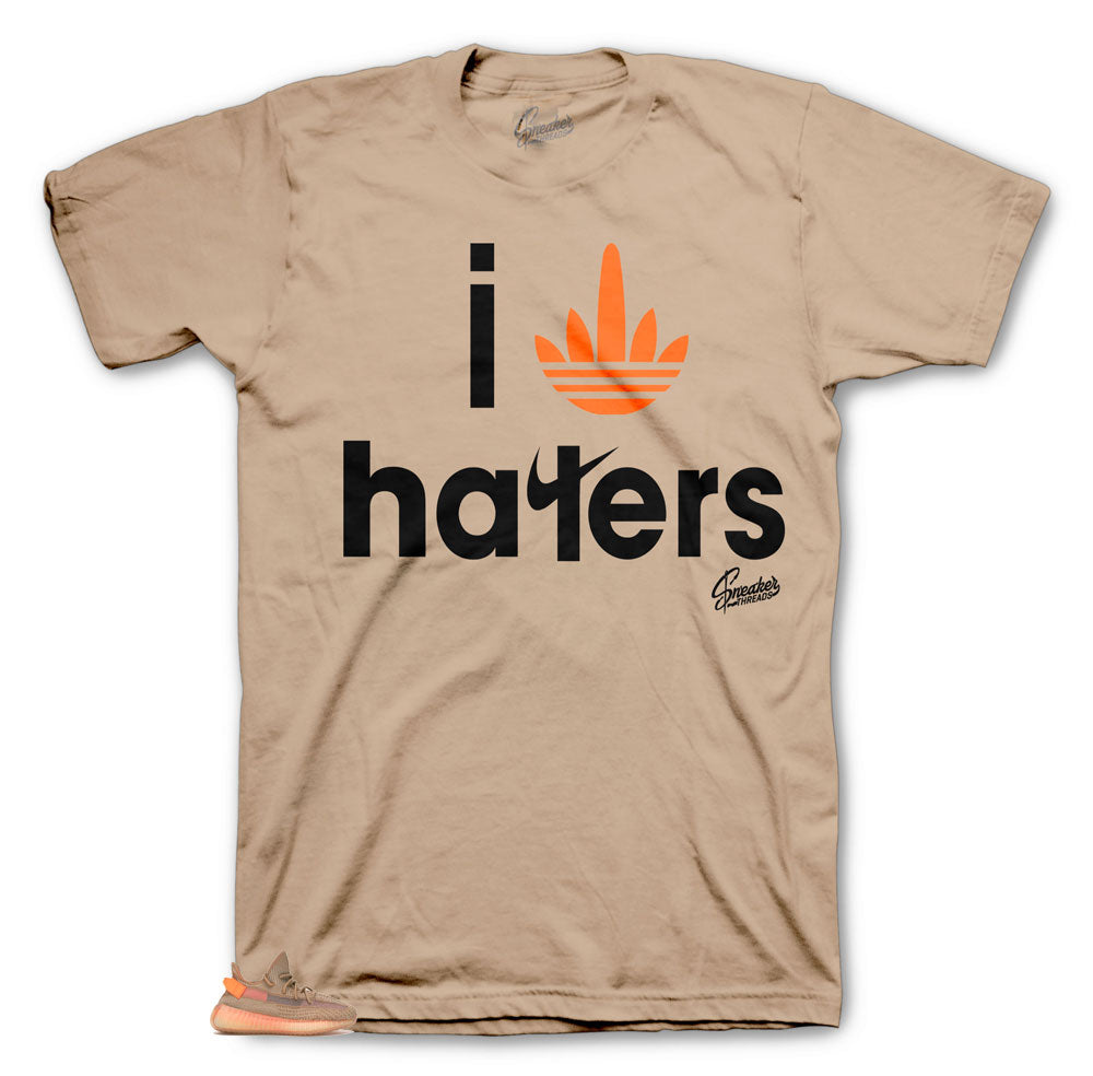 Yeezy Clay Stripe Haters tee to match sneakers