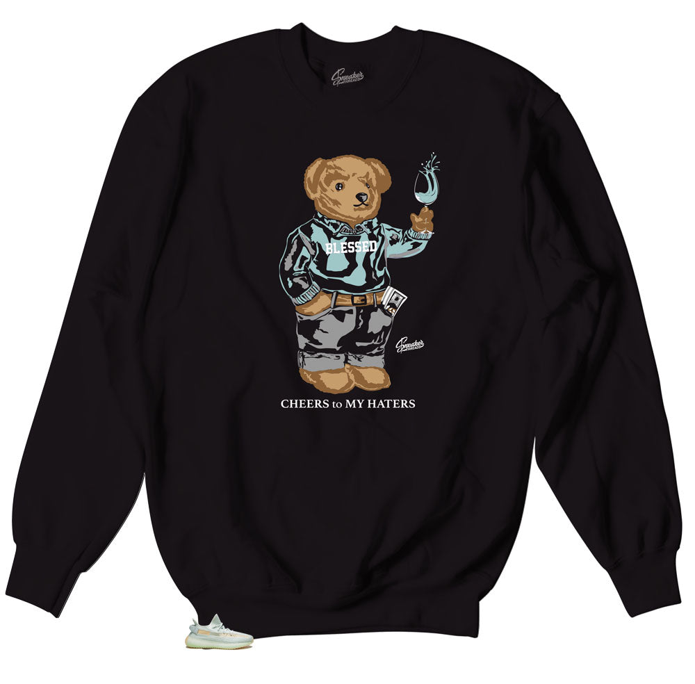 Crewneck sweaters designed to match the yeezy hyperspace boost 350 sneakers