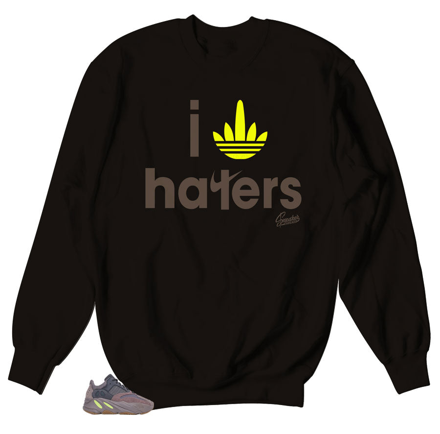 I Stripe Haters Sweater for yeezy 700 Mauve