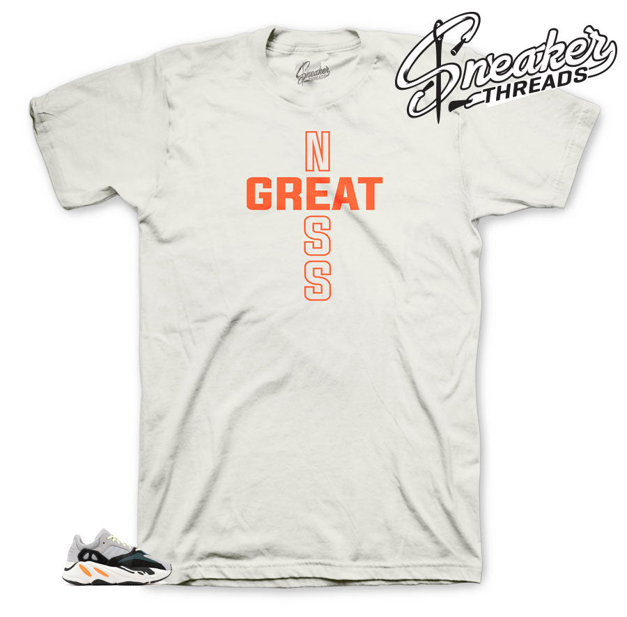 Greatness One Original shirt to match Yeezy Wave Runners