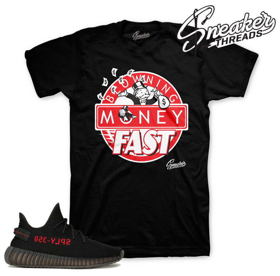 Sneaker Match Tees | Yeezy Boost 350 | Black/red