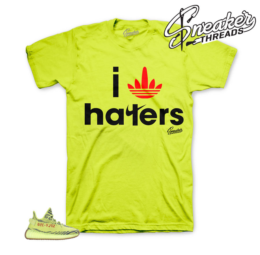 Yeezy Boost Frozen Yellow I Stripe Haters Shirt
