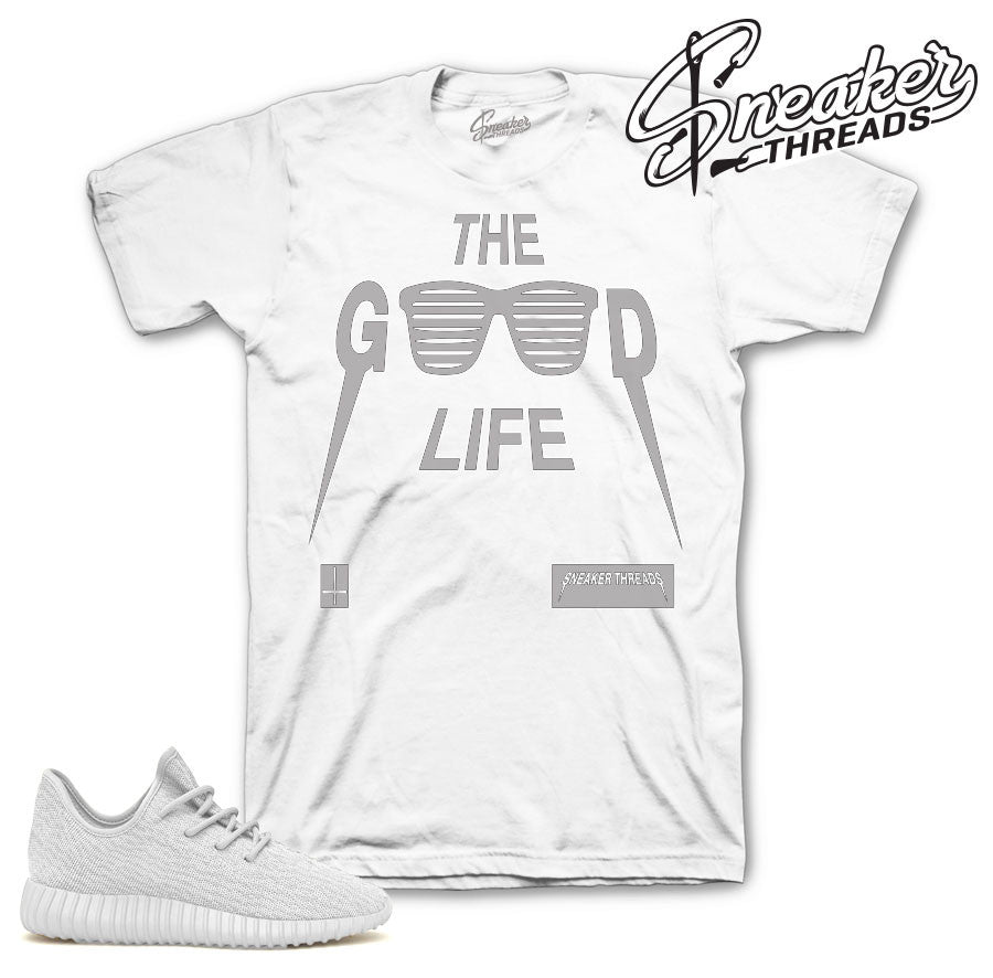 Yeezy boost triple white tee match | Sneaker Match Shirts