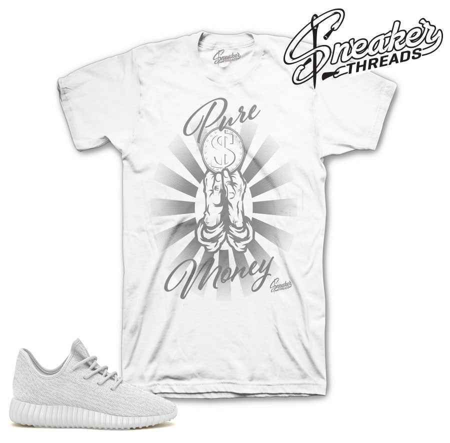 Yeezy boost triple white official matching shirts and tees.