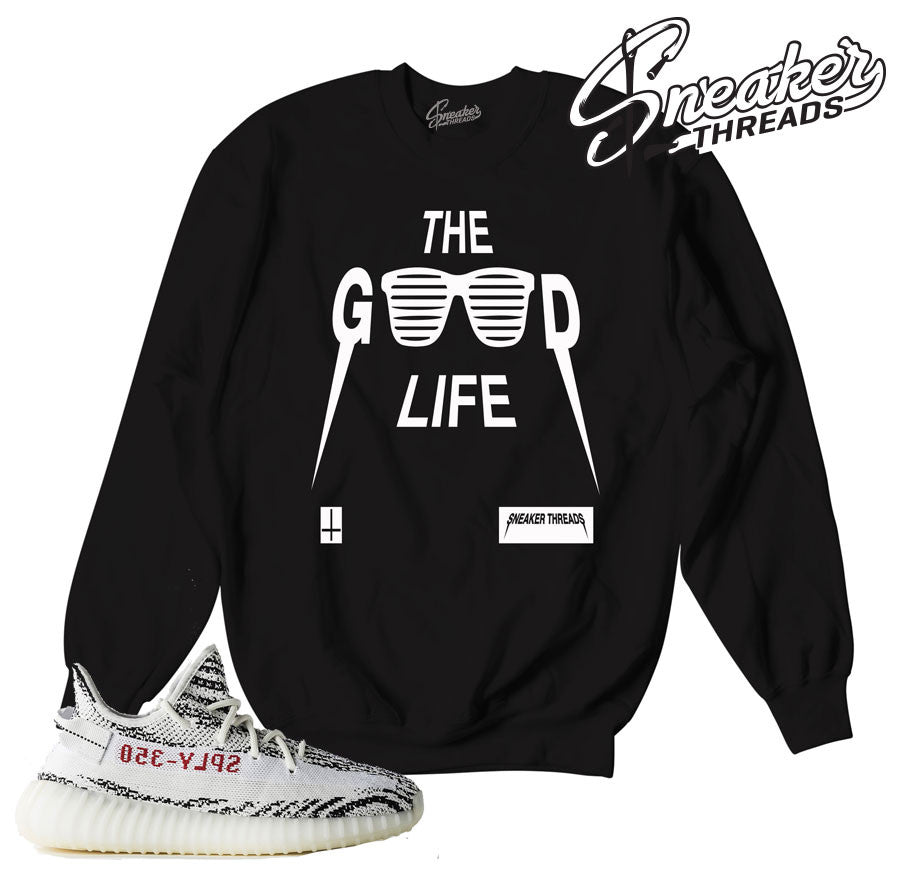 Sweaters match yeezy boost zebra sneaker match sweatshirts.