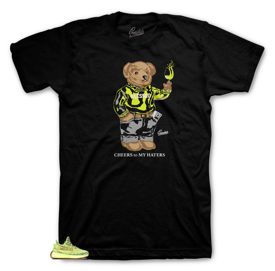 Sneaker tees match Yeezy semi frozen yellow | Frozen yellow tees.