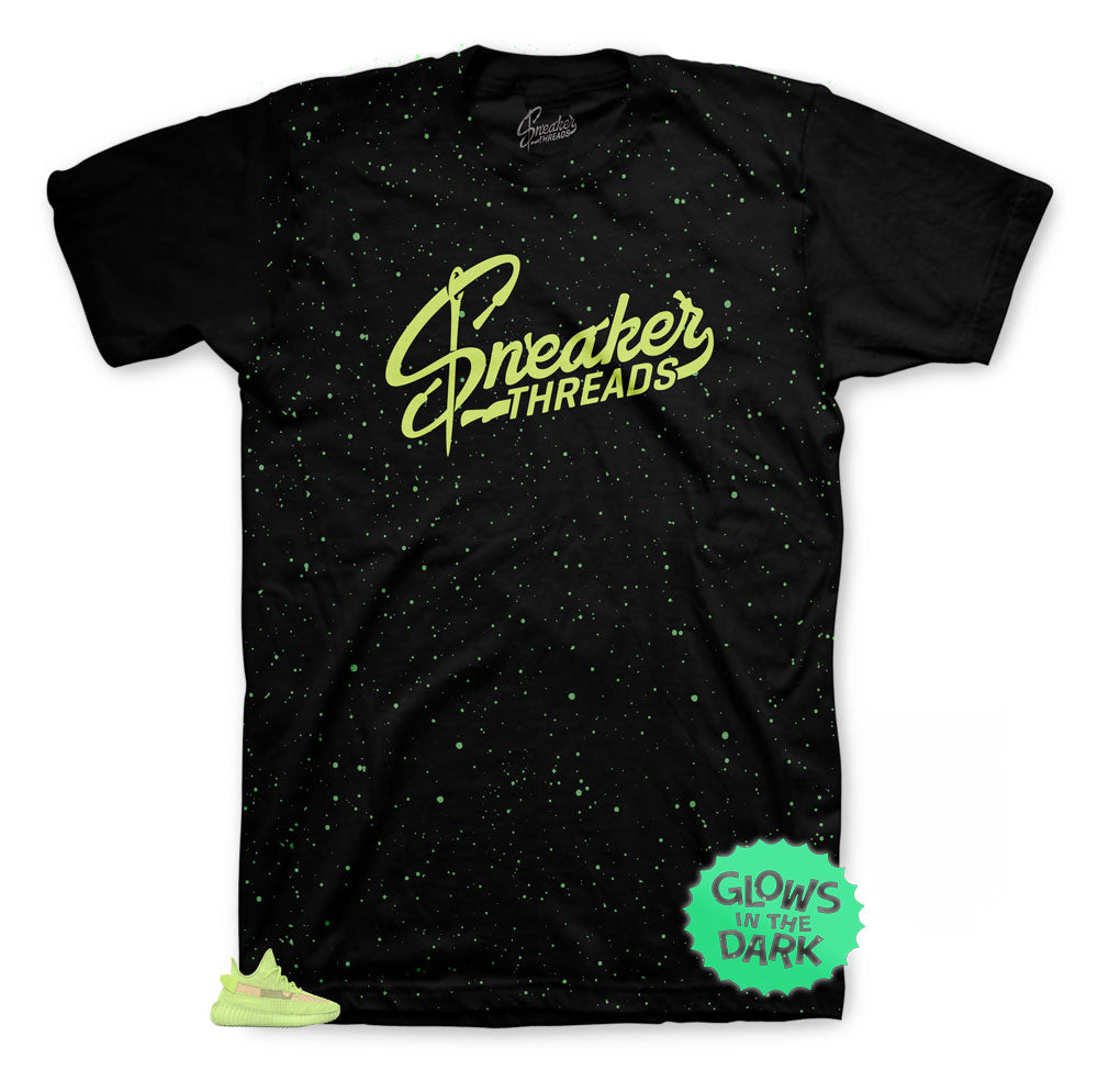 Yeezy 350 sneaker Glow collection matches shirts created to match perfectly with the yeezy glow 350s