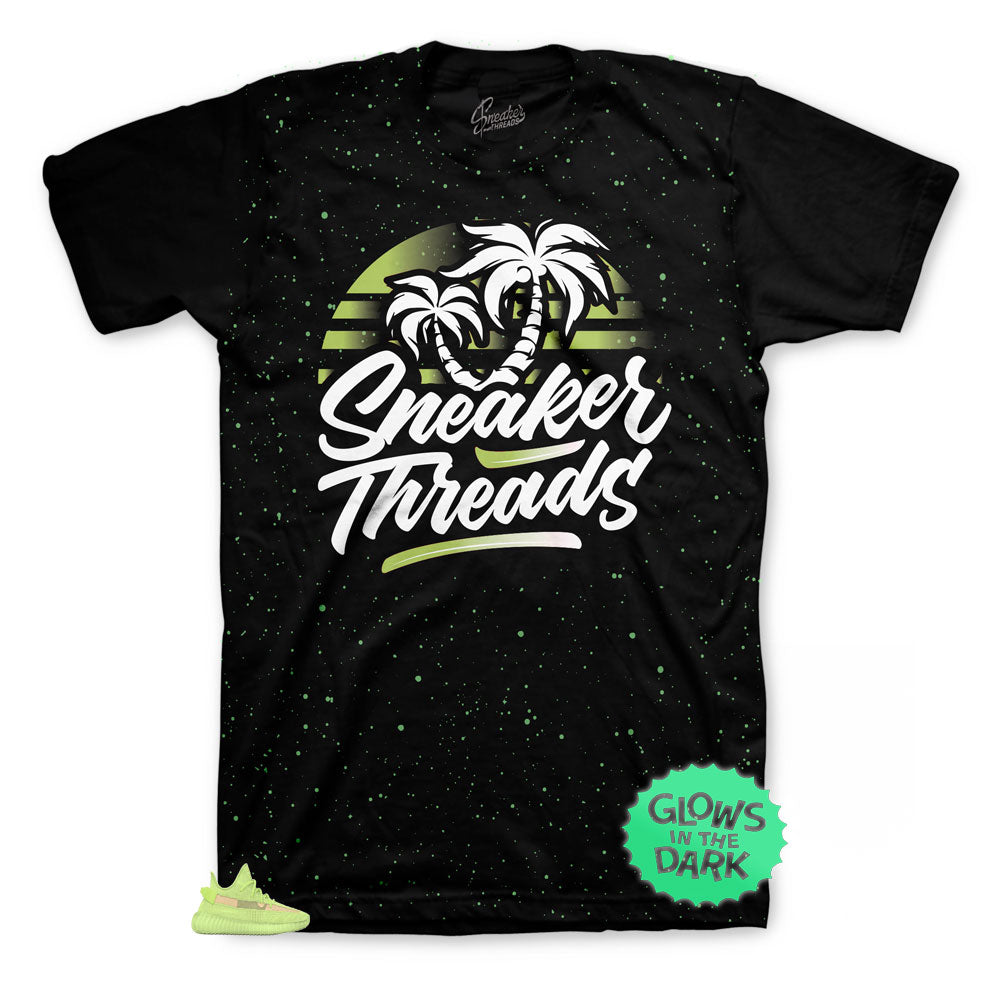 Yeezy boost glow 350 matches t shirts perfectly made to match with the yeezy glow collection