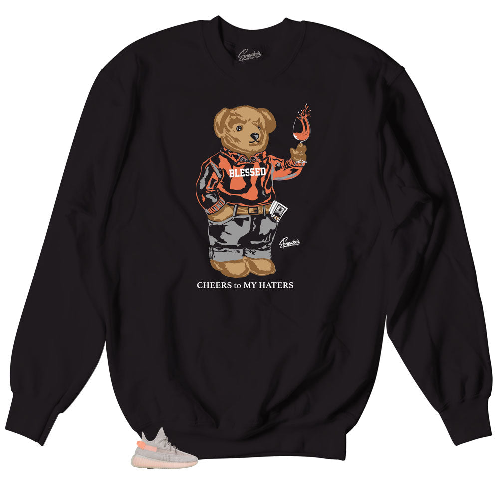 Yeezy True Form Cheers Bear Sweater to match sneakers perfect