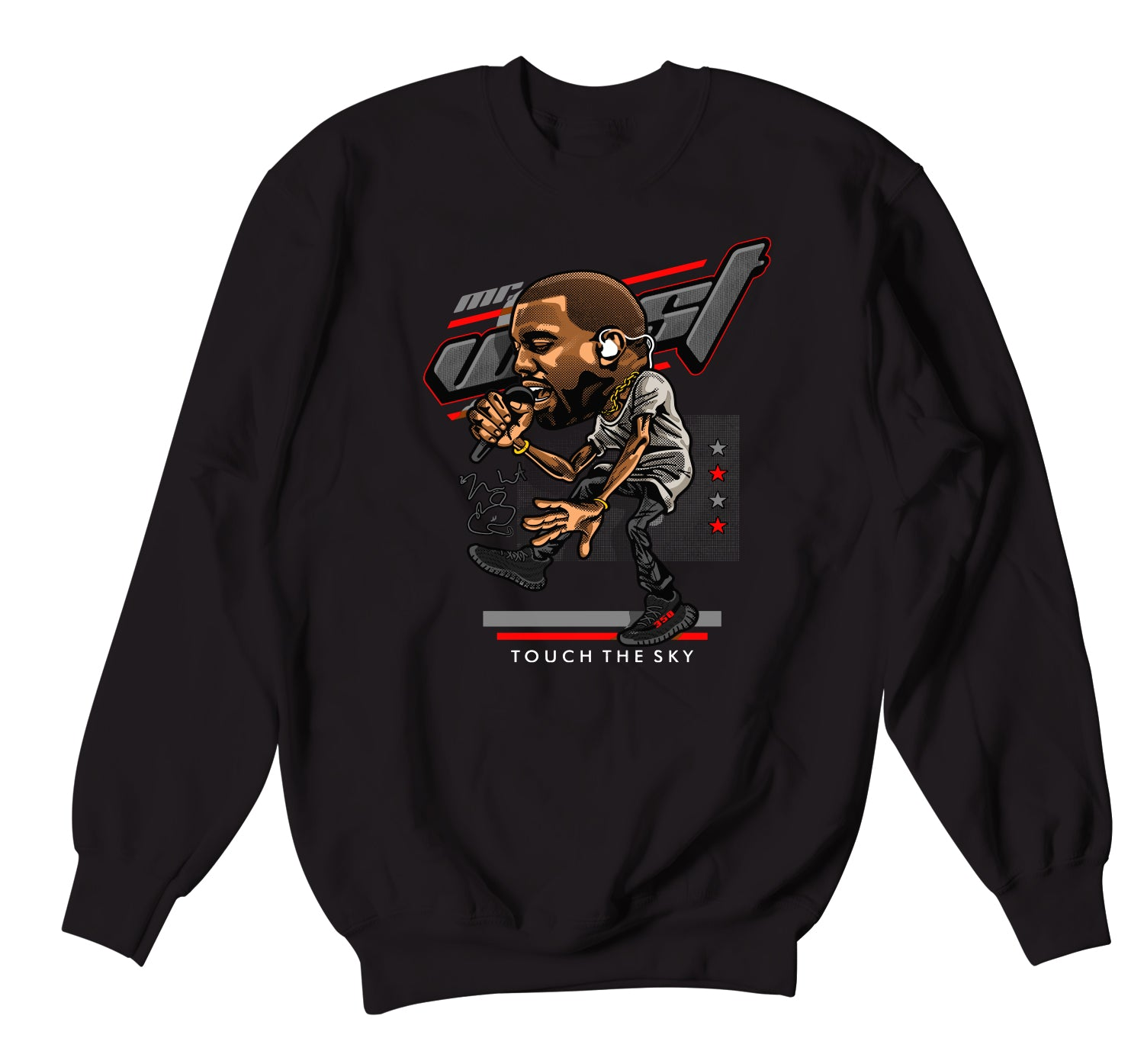 Yeezy 350 Bred Touch The Sky Sweater