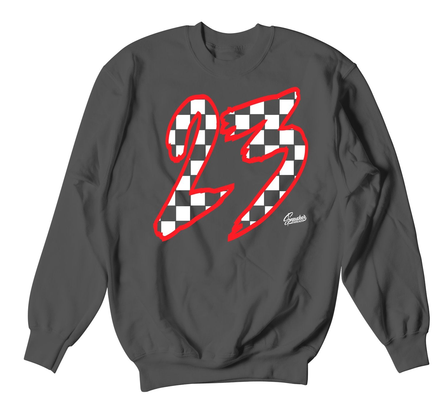 sweater crewneck collection for mens matches Jordan 12 dark grey sneakers