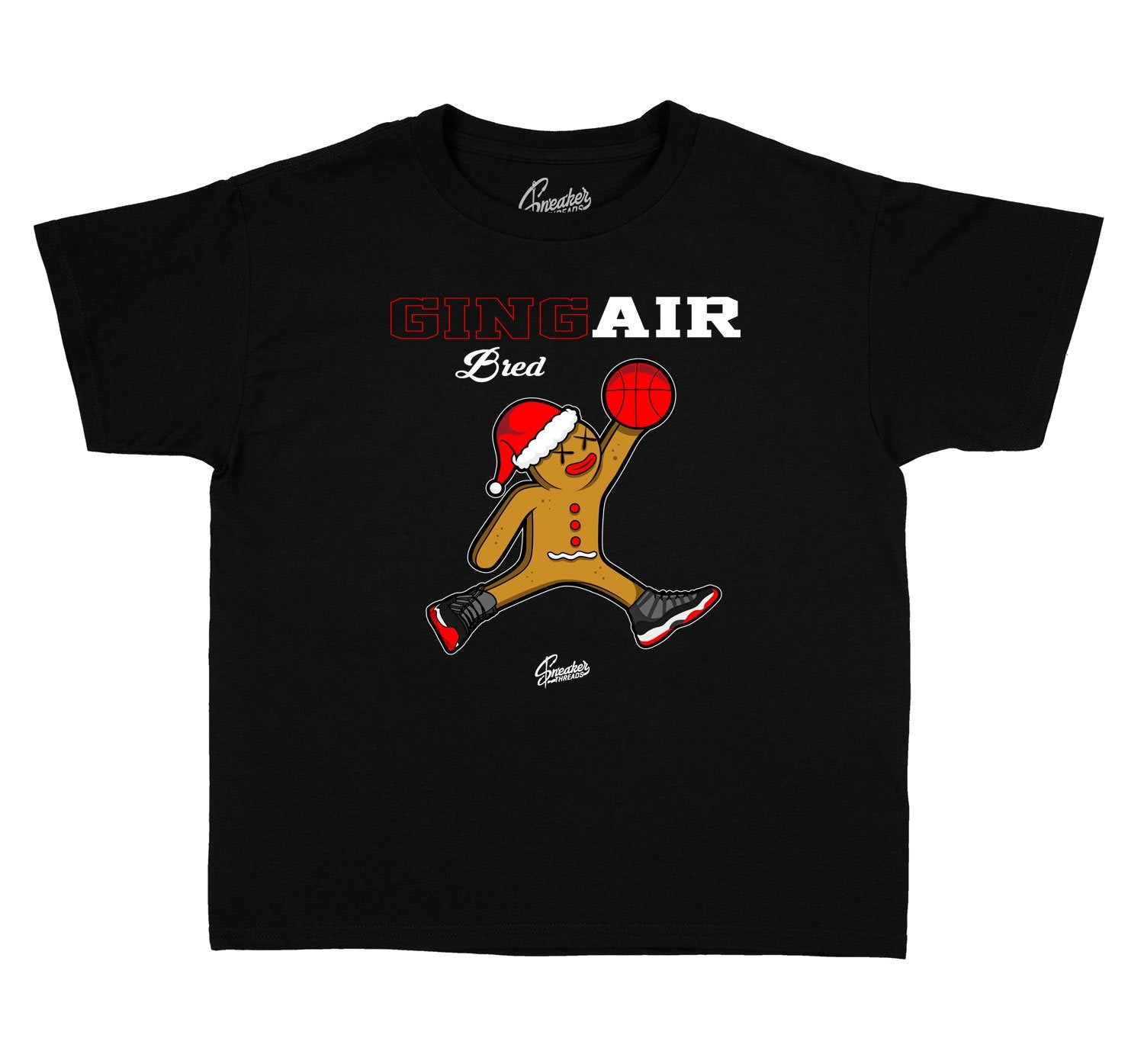 Kids Jordan 11 bred sneaker tees match | Air Bred Tee