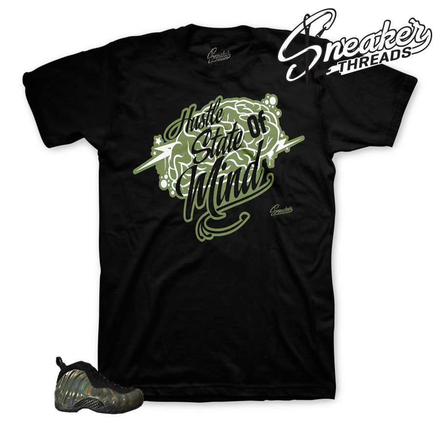 Shirts match foam sneaker | Legion green BIG bear shirt forfoamposite.