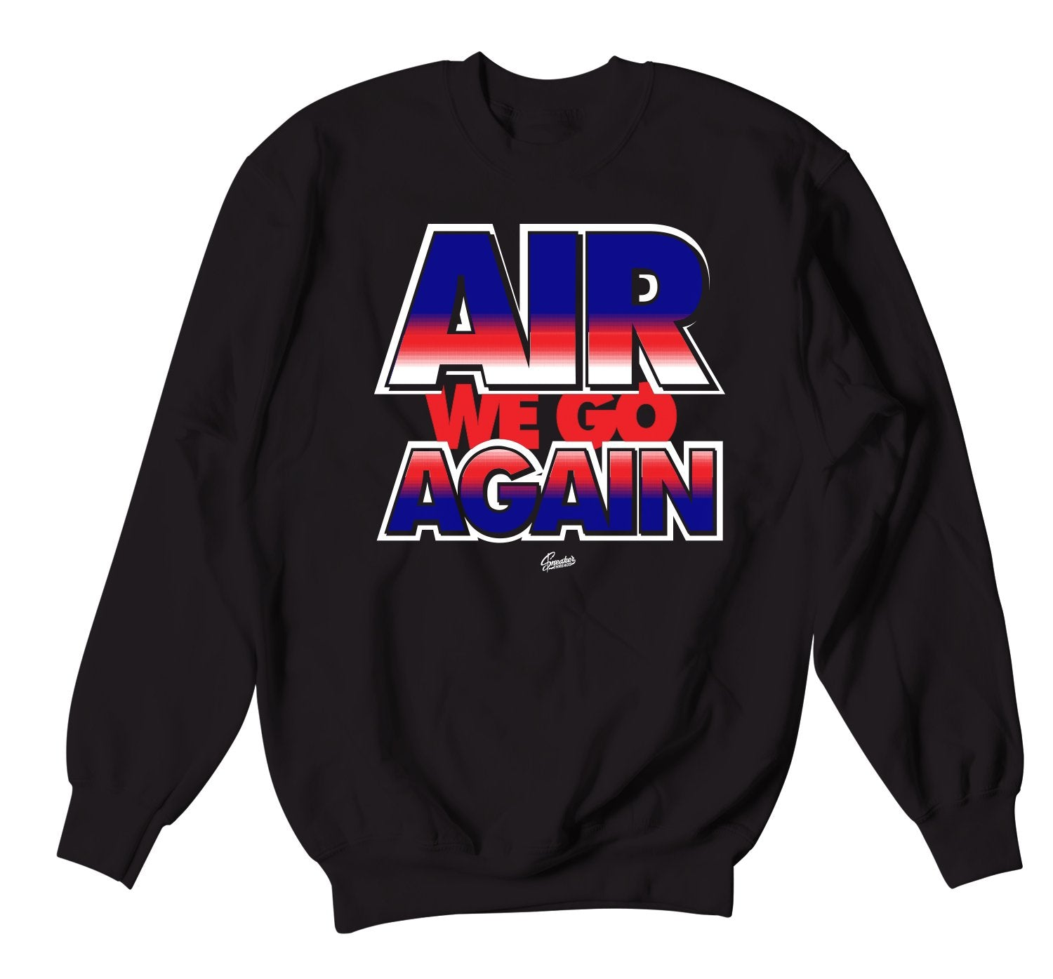 crewneck sweaters designed to match the Jordan 4 loyal blue sneaker collection