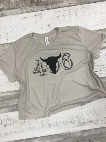 406 Steer Head Crop Top