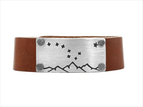 Big Dipper leather cuff