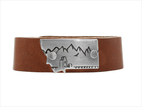 On the Front MT leather cuff