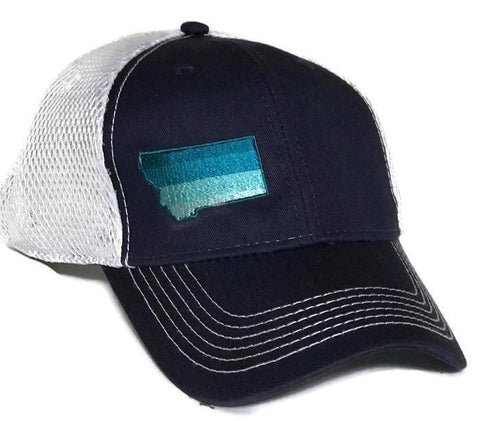Navy w Blue Ombre MT Hat