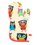 Hoo's Hungry oven mitt & pot holder