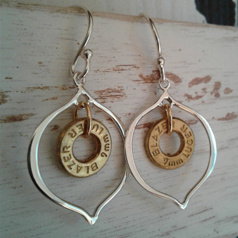 Holey Shot Sterling Earrings