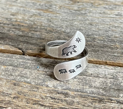 Mama & Cub Adjustable Ring