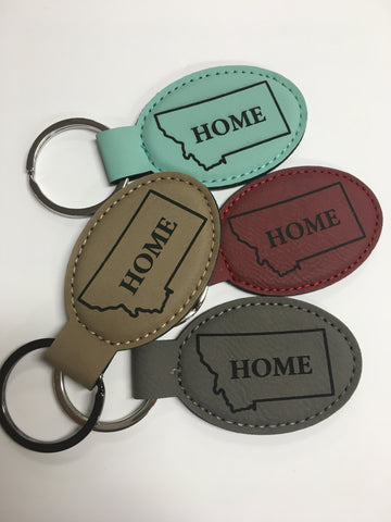 Oval Home MT key chain