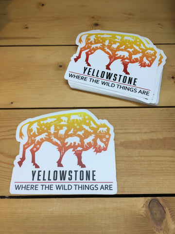 Sticker Yellowstone Bison
