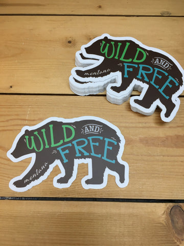 Sticker Bear Wild & Free