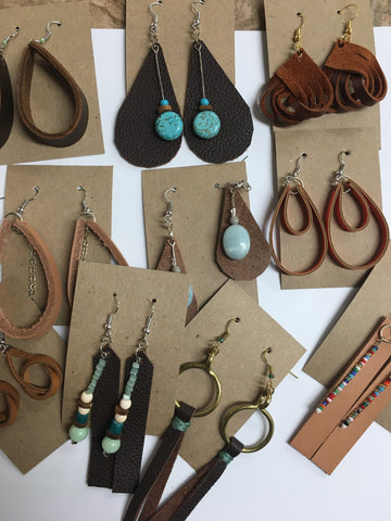 Leather Earrings (10 variants)