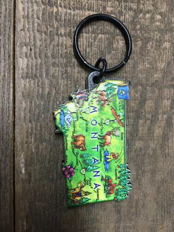 MT Shaped Map Key Ring
