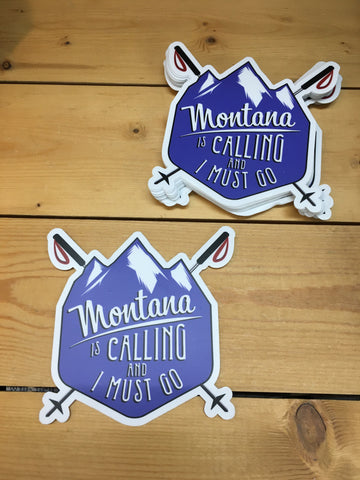 Sticker Ski Montana is Calling