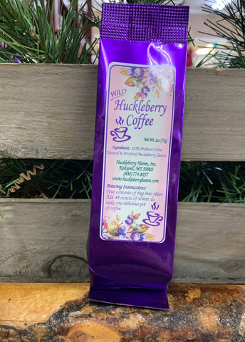 Huckleberry Coffee in bag