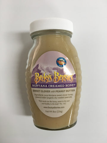 Montana Peanut Butter Creamed Honey