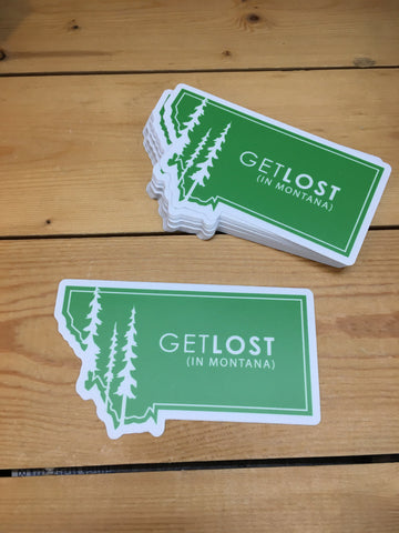 Sticker Get Lost in MT