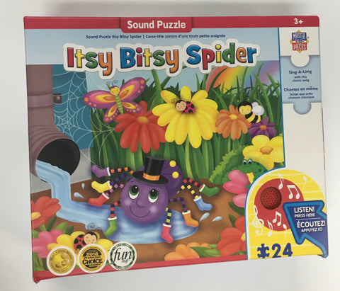 Itsy Bitsy Spider Puzzle with Sound