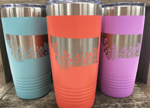 Floral MT Travel Mug