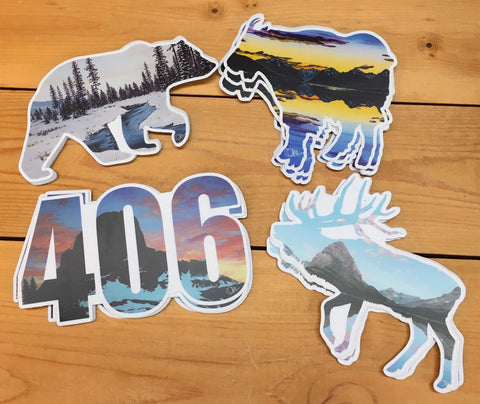 MT scenery stickers