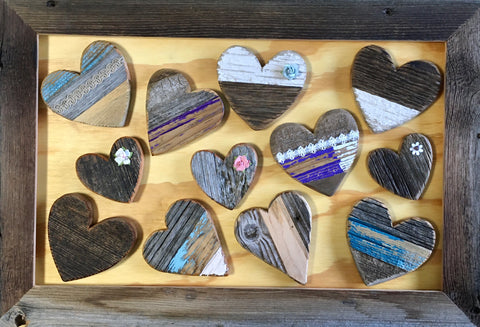 Small Barn Wood Hearts