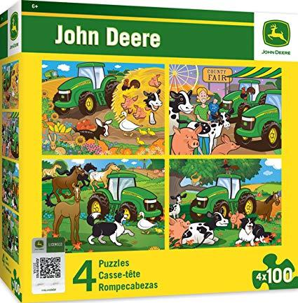 John Deere 100pc 4-Pack