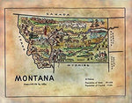 Kid's Map of Montana
