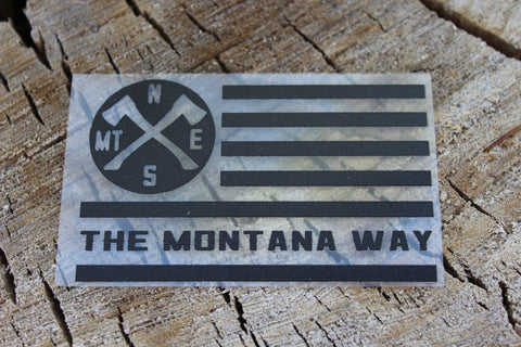 The Montana way flag vinyl decal