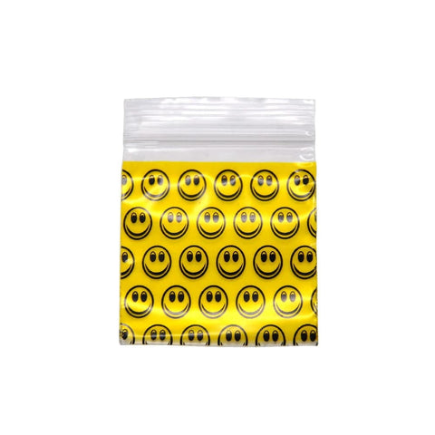 Pochon en plastique Smiley jaune