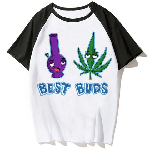 T-shirt Bang et Weed best buds à manches courtes.