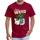 T-shirt Enjoy Weed Mickey Mouse Bordeaux