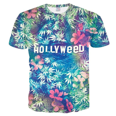 T-shirt Hollyweed  sauvage